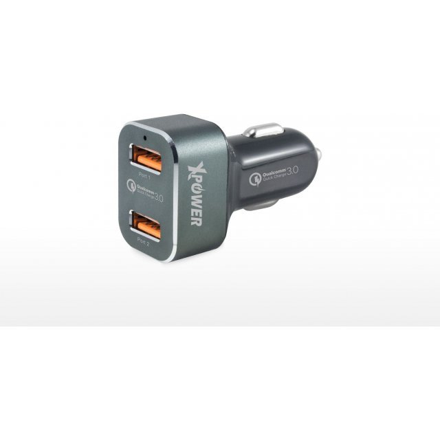Xpower 2nd Gen 2 Port USB Dual Quick Charge 3.0 Car Charger (Black)