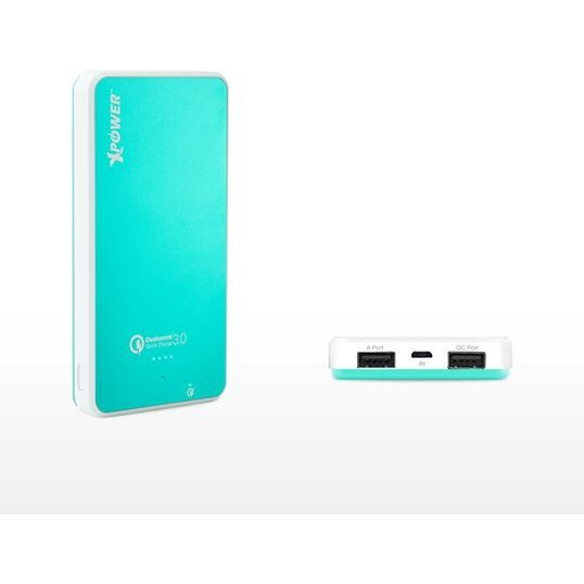 Xpower PB10Q Qualcomm Quick Charge 3.0 2-Port USB Power Bank 10000mAh (Tiffany Blue)
