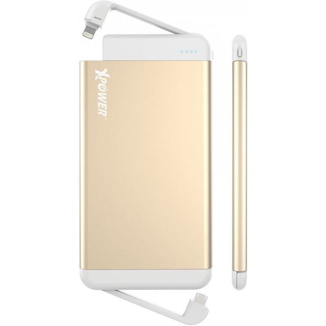 Xpower PB8L Power Bank with Build-in MFI & micro USB 8000mAh (Gold)