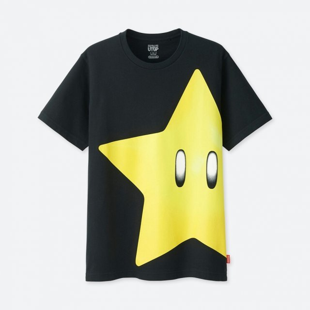 Super Mario Star Utgp Nintendo Men's T-shirt (L Size)