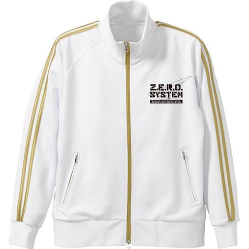 New Mobile Report Gundam Wing Wing Gundam Zero Jersey Jacket White x Gold (L Size)
