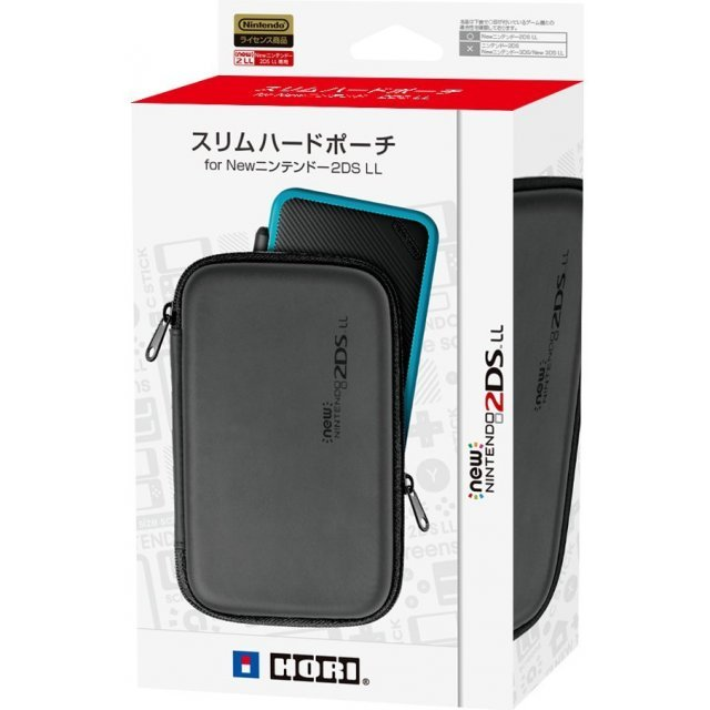 Slim Hard Pouch for New 2DS LL (Black x Black)