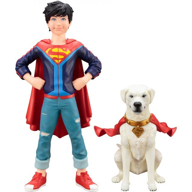 ARTFX+ DC Universe Super Sons 1/10 Scale Pre-Painted Figure: Jonathan Kent & Krypto 2 Pack