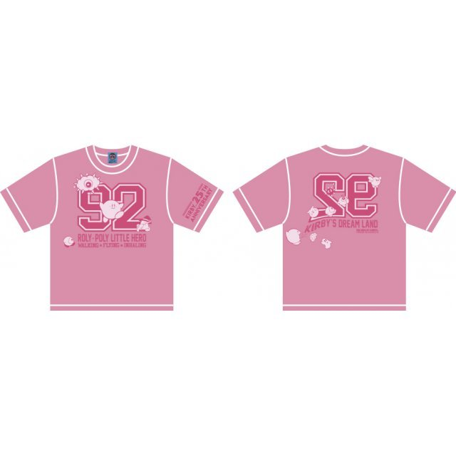 Kirbys Dream Land Numbering Kid's T-shirt Pink With Mascot [Limited Edition] (Kids 140 Size)