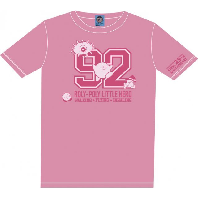 Kirbys Dream Land Numbering T-shirt Pink With Mascot [Limited Edition] (XL Size)