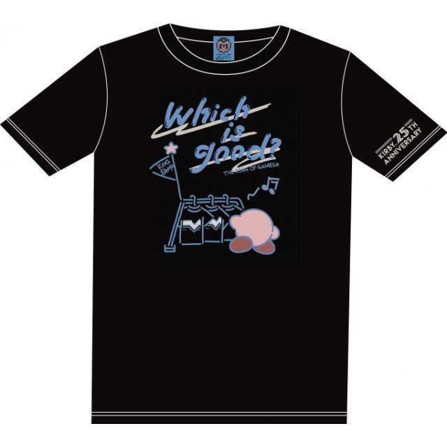 Kirbys Dream Land Which Is Good? T-shirt Black With Mascot [Limited Edition] (XS Size)