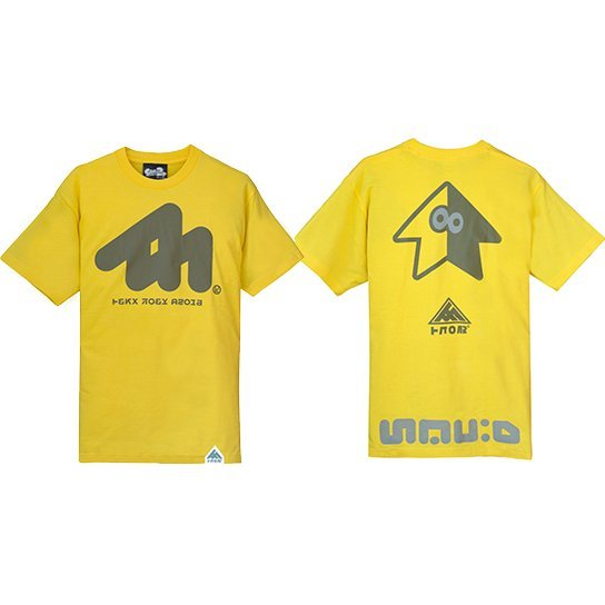 Splatoon 2 Wakaba Squid T-shirt Yellow (XS Size)