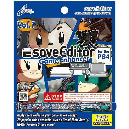 CYBER saveEditor Game Enhancer for the PS4 Vol.1