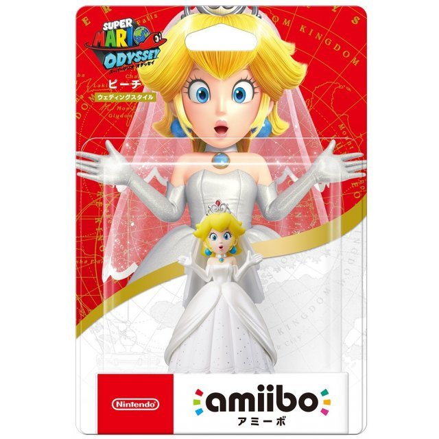 Amiibo Super Mario Odyssey Series Figure Peach Wedding Outfit Re Run