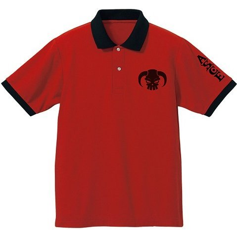 One Piece Fire Fist Ace Polo Shirt Red x Black (M Size)