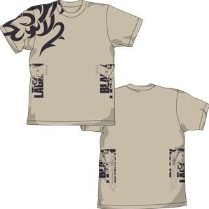 Black Lagoon Two Hands T-shirt Light Beige (L Size)