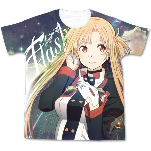 Sword Art Online The Movie: Ordinal Scale - Asuna The Flash Full Graphic T-shirt White (M Size)