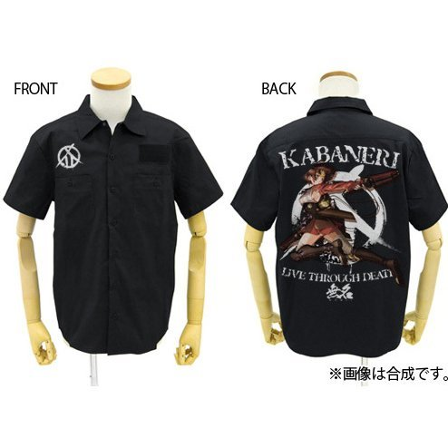 Kabaneri Of The Iron Fortress Mumei Full Color Work Shirt Black (XL Size)