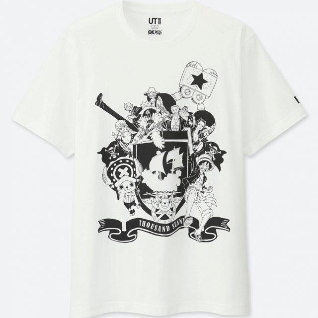 Uniqlo One Piece Straw Hat Pirates Men's T-shirt (S Size)