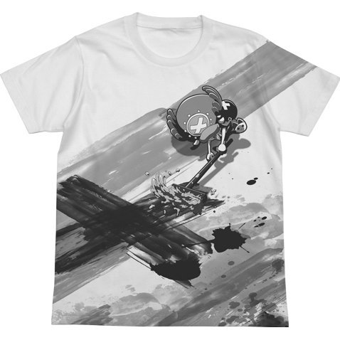 One Piece Chopper Graffiti All Print T-shirt White (XL Size)