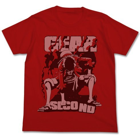 One Piece Gear Second T-shirt Red (L Size)