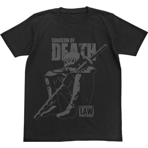 One Piece Tatazumu Law T-shirt Black (L Size)