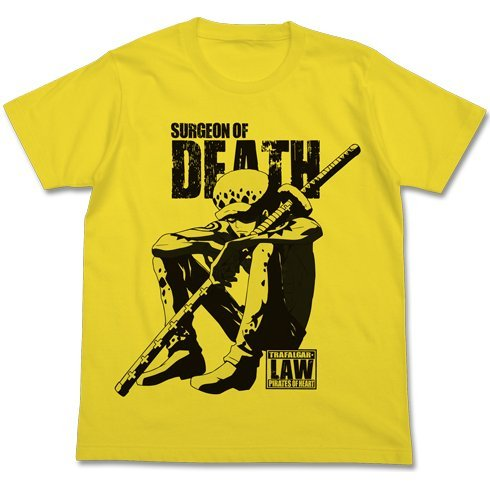 One Piece Tatazumu Law T-shirt Yellow (M Size)
