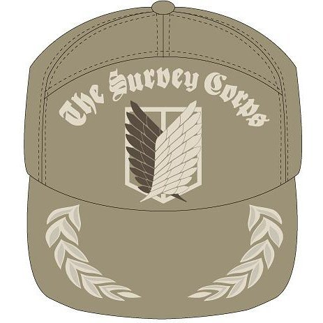 Attack On Titan: The Survey Corps Embroidered Cap Beige