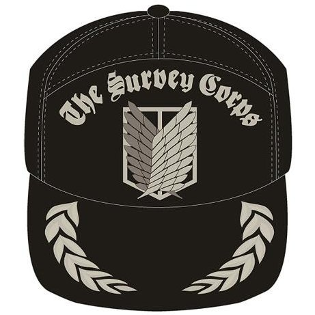 Attack On Titan: The Survey Corps Embroidered Cap Black
