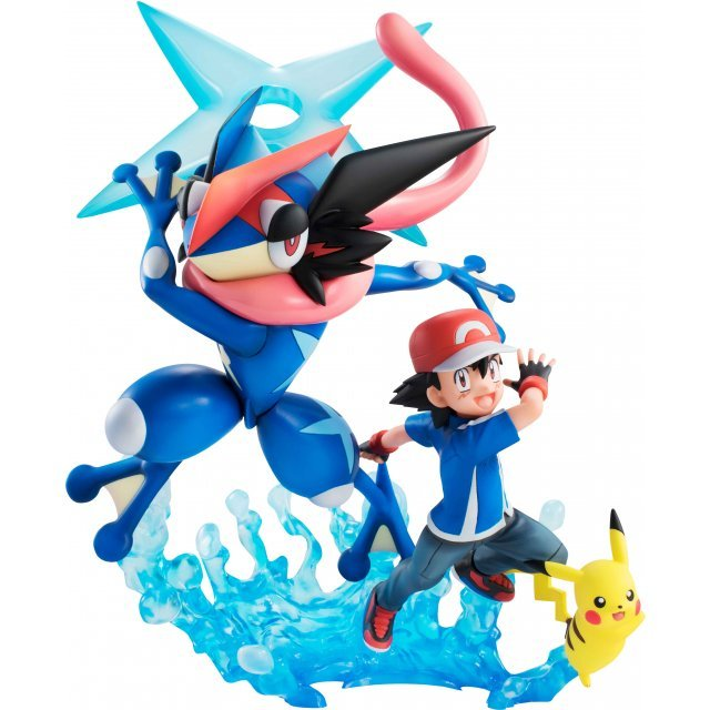 G.E.M. Series Pocket Monsters Pre-Painted PVC Figure: Ash Ketchum & Pikachu & Ash's Greninja