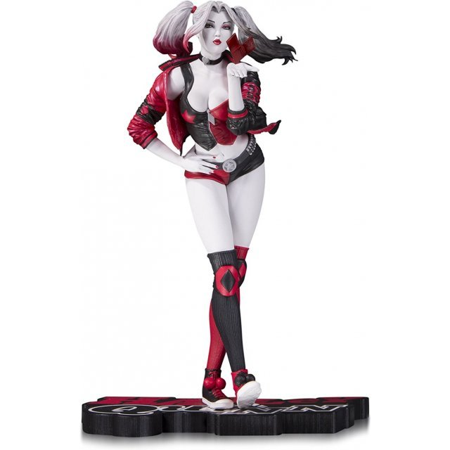 DC Collectibles Resin Statue: Harley Quinn Red White & Black