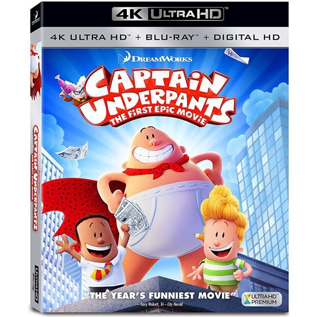 Captain Underpants: The First Epic Movie [4K Ultra HD Blu-ray]