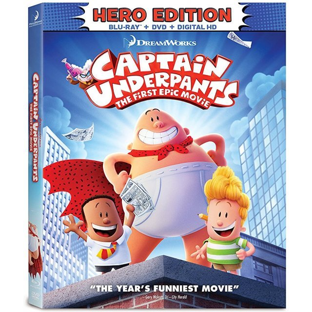 Captain Underpants: The First Epic Movie - Hero Edition [Blu-ray+DVD+Digital HD]