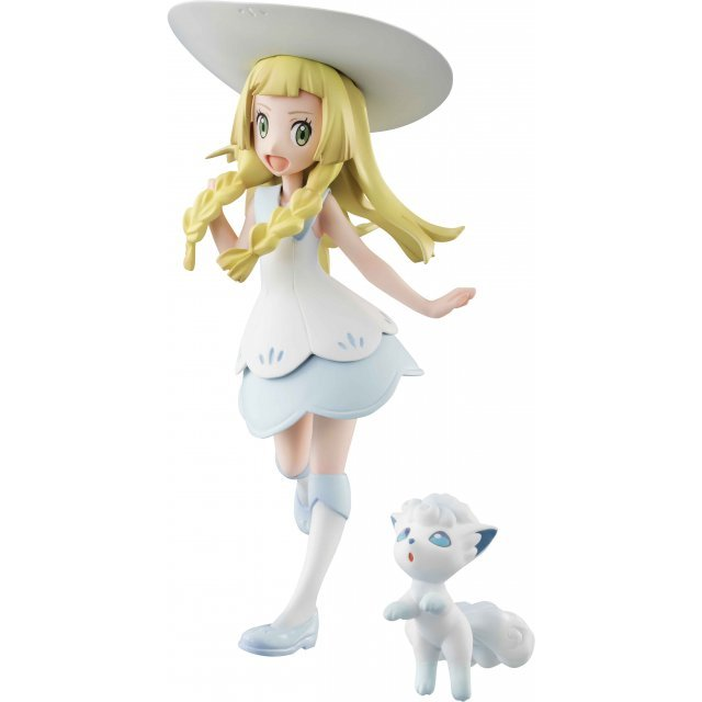 G.E.M. Series Pocket Monsters Pre-Painted PVC Figure: Lillie & Snowy (Alola Vulpix)