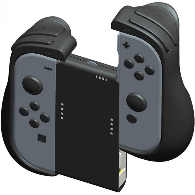 CYBER ・Grip + Power Supply Attachment Set for Nintendo Switch (Black)