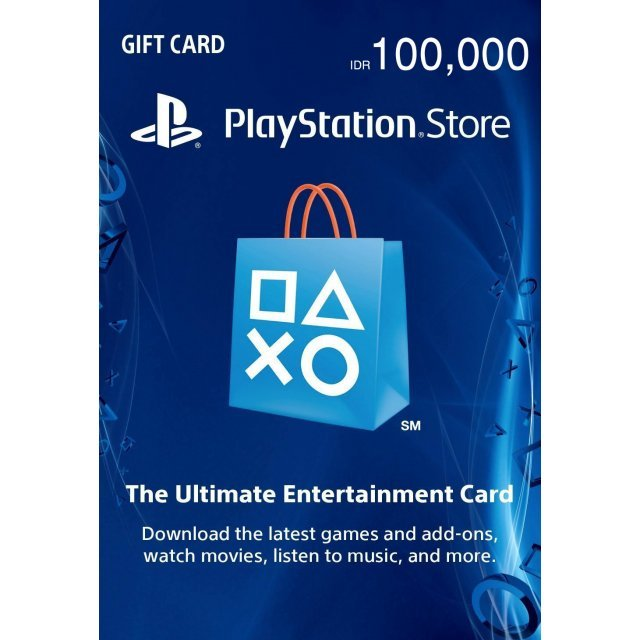 PSN Card 100,000 IDR | Playstation Network Indonesia