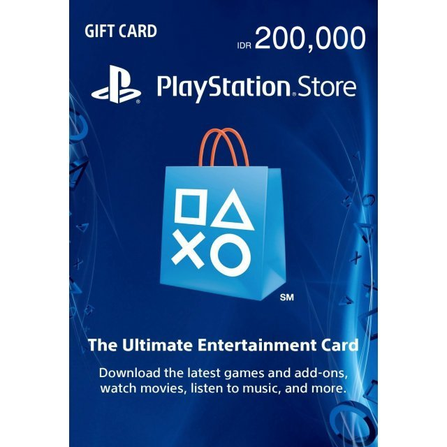 PSN Card 200,000 IDR | Playstation Network Indonesia
