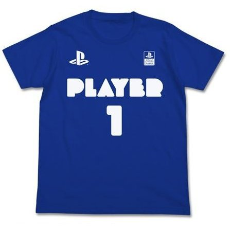 PlayStation - Player 1 T-shirt Royal Blue (M Size)