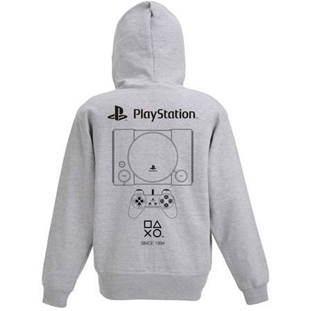 PlayStation Zip Up Hoodie 1st Gen. Mix Gray (S Size)