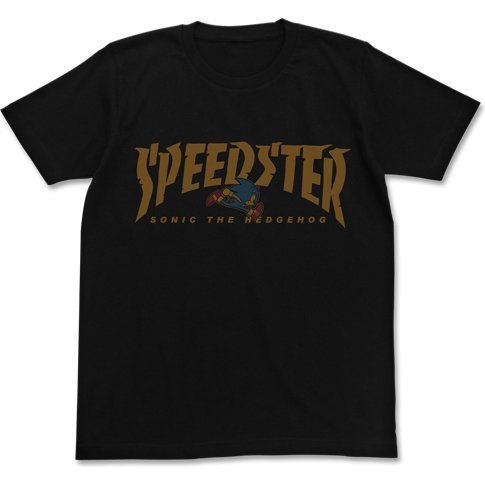 Sonic The Hedgehog - Speedster Sonic T-shirt Black (XL Size)