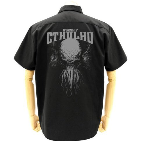 Miskatonic University Store - Cthulhu Chomoran Ver. Patch Base Work Shirt Black (M Size)
