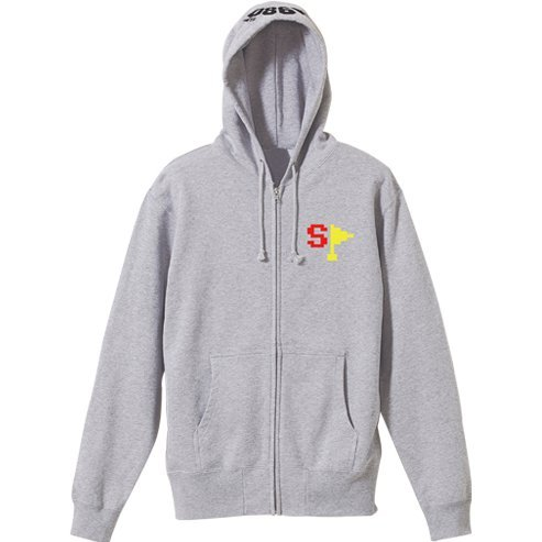 Rally X - Special Flag Zippered Hoodie Mix Gray (XL Size)