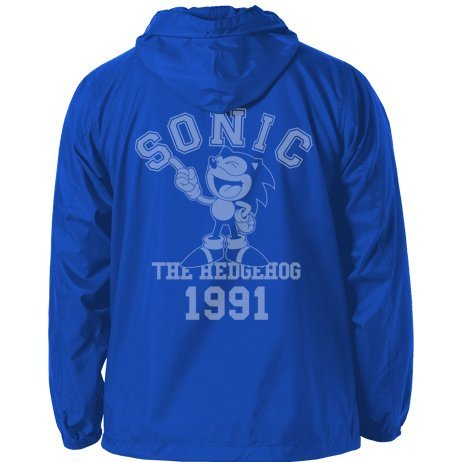 Sonic The Hedgehog - Classic Sonic Hooded Windbreaker Blue x White (XL Size)