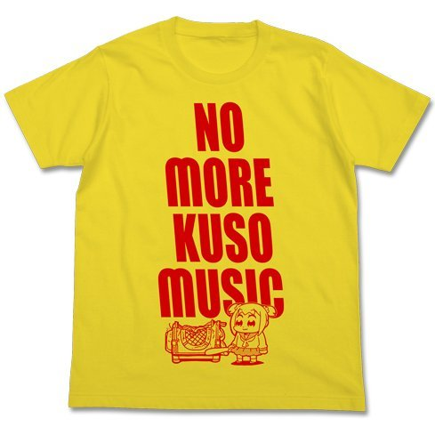 Pop Team Epic - Kuso Music T-shirt Yellow (XL Size)