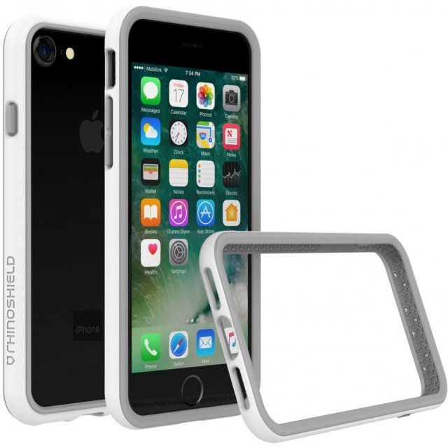 RhinoShield CrashGuard Bumper Case for iPhone 7 (White)