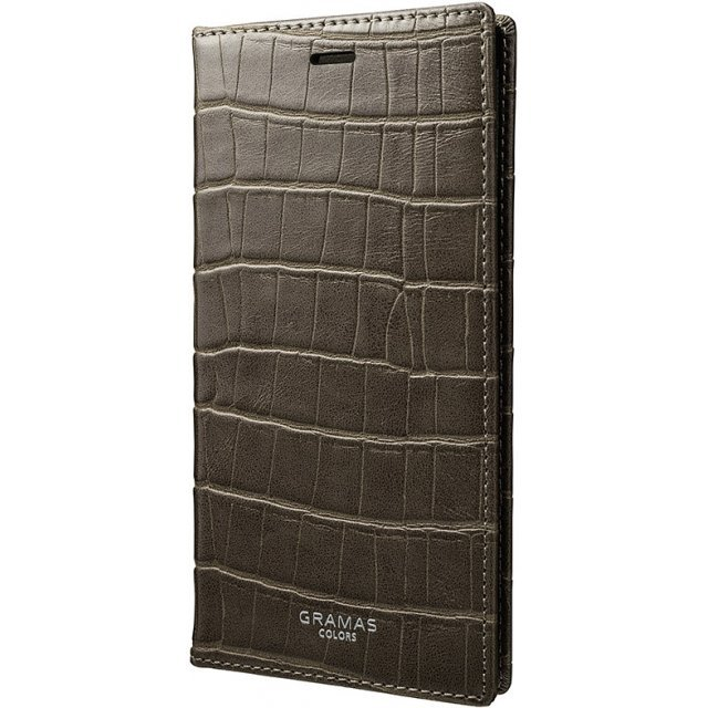 Gramas EURO Passione Croco Book PU Leather Case for iPhone X (Greige)