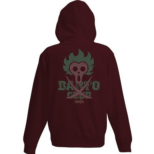 One Piece - Bartolomeo Zippered Hoodie Burgundy (L Size)