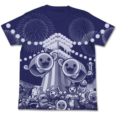 Taiko No Tatsujin All Print T-shirt Night Blue (XL Size)