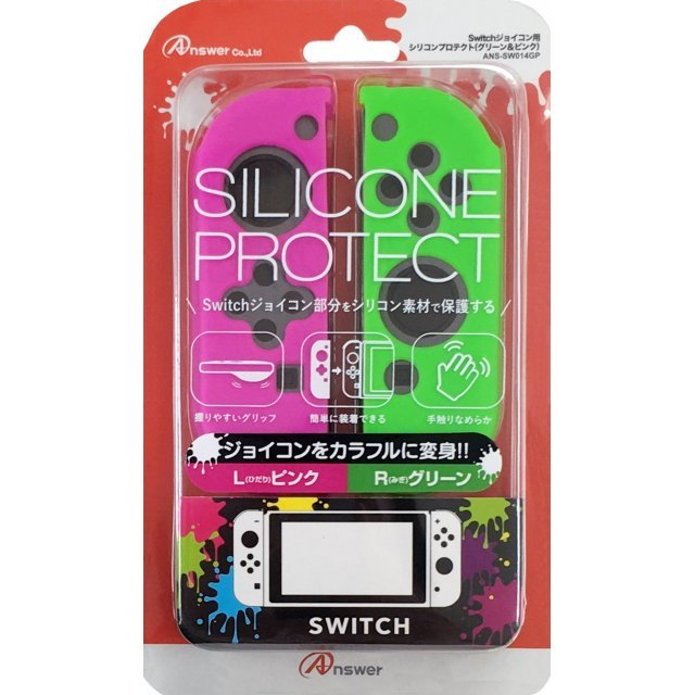 Silicon Cover for Nintendo Switch Joy-con (Green & Pink)