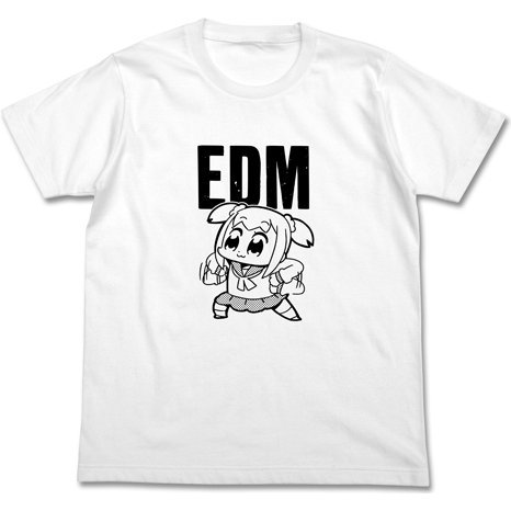 Pop Team Epic - Edm T-shirt White (L Size)