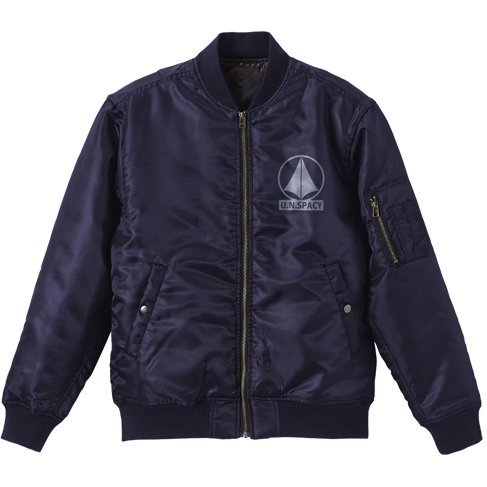 The Super Dimension Fortress Macross - SDF-1 MA-1 Jacket Navy (XL Size)