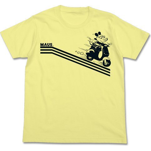Maus & Scooter T-shirt Light Yellow (M Size)