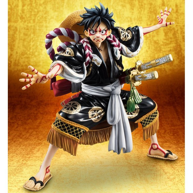 One Piece Excellent Model Portrait Of Pirates Kabuki Edition 1/8 Scale Pre-Painted Figure: Monkey D. Luffy (Re-run)