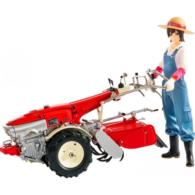 PLAMAX MF-21 1/20 Scale Model Kit: Minimum Factory Minori with Honda F90 Tiller