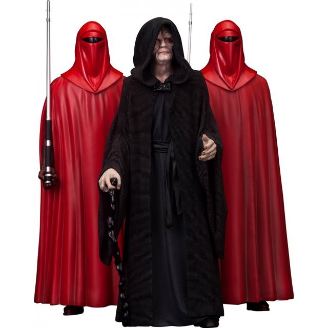 ARTFX+ Star Wars 1/10 Scale Pre-Painted Figure: Emperor Palpatine with Royal Guard 3 Pack
